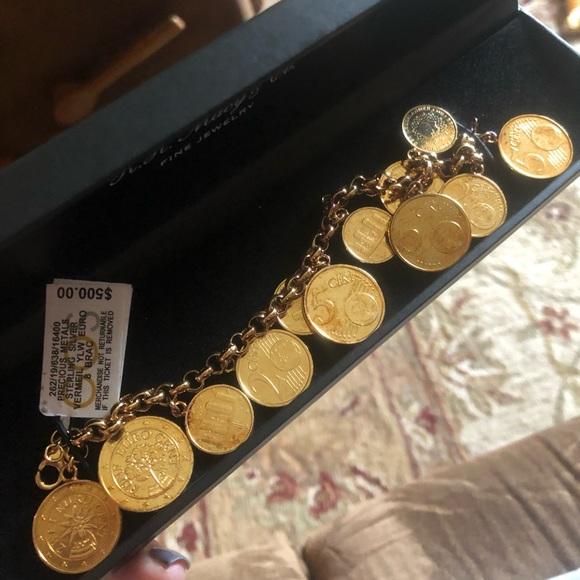 bd2ed159dbb5 Macy s Euro Coin Charm Bracelet